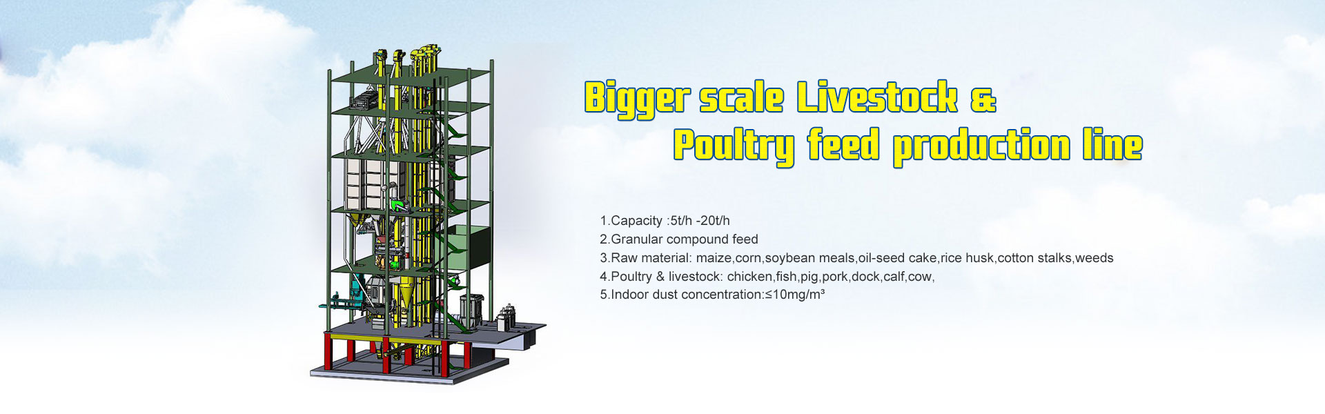 Bigger Livestock& Poultry feed mill plant