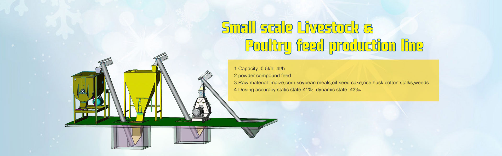 Small Livestock& Poultry feed mill plant
