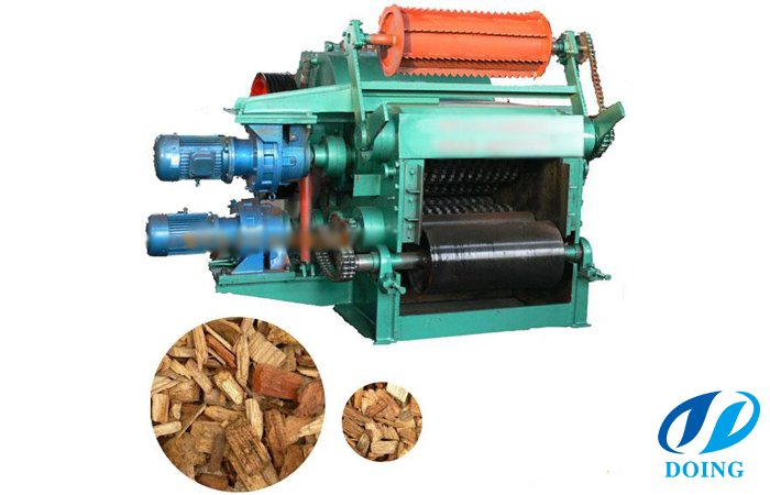 Drum wood chipper