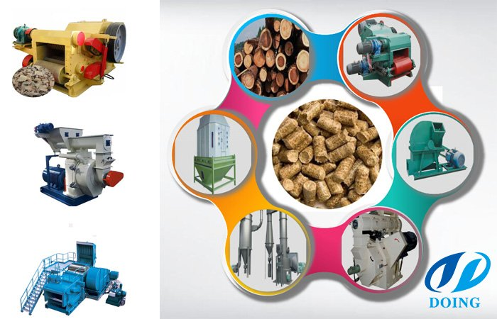 Biomass wood pellets mill