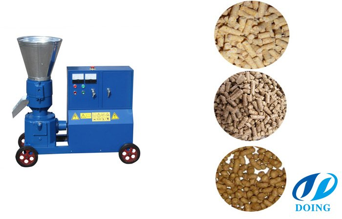 Portable flat die feed pellet mill