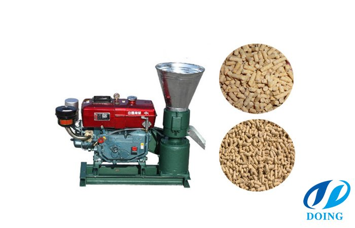 Small scale flat die feed pellet mill